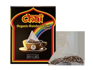 Organic Rainbow Chai Tea Bags 20